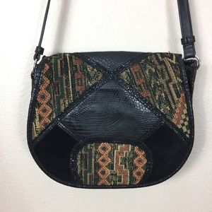 Steven by Steve Madden boho tapestry patchwork bag